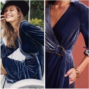 🆕NWT Anthropologie Velvet Wrap Dress